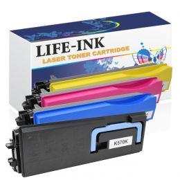 Life-Ink Toner 4er Set ersetzt Kyocera TK-570