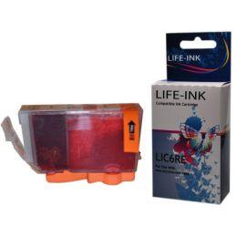 Life-Ink Druckerpatrone ersetzt BCI-6R für Canon Drucker red