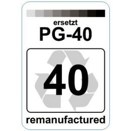 Premium Etiketten für Canon PG-40 - 62 st.