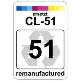 Premium Etiketten für Canon CL-51 - 62 st.