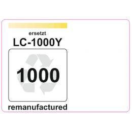 Premium Etiketten für Brother LC-1000Y - 29 st.