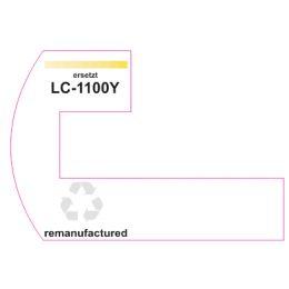 Premium Etiketten für Brother LC-1100Y - 25 st.