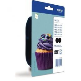 Brother Value Pack schwarz LC123BKBP2DR LC-123 2...